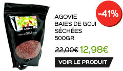 Baies de goji en promotion