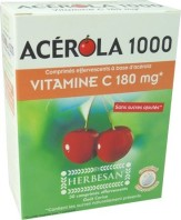 ACEROLA 1000 VITAMINE C 180MG EFFERVESCENTS HERBESAN