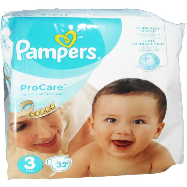 PAMPERS 32 COUCHES 3 EME AGE 5 A 9KG 3a2199b4b6fe