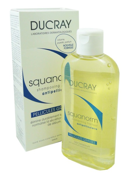 ducray squanorm shampooing anti pellicules grasses 200ml. Black Bedroom Furniture Sets. Home Design Ideas