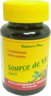 NATURE'S PLUS SOURCE DE VIE ADULTE 60 COMPRIMES