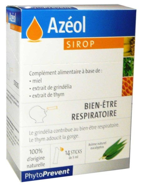 PHYTOPREVENT AZEOL SIROP 14 STICKS