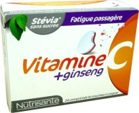 NUTRISANTE VITAMINE C + GINSENG 24 COMPRIMES A CROQUER