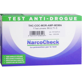 narcocheck test anti drogue 1 test urinaire multi 5. Black Bedroom Furniture Sets. Home Design Ideas
