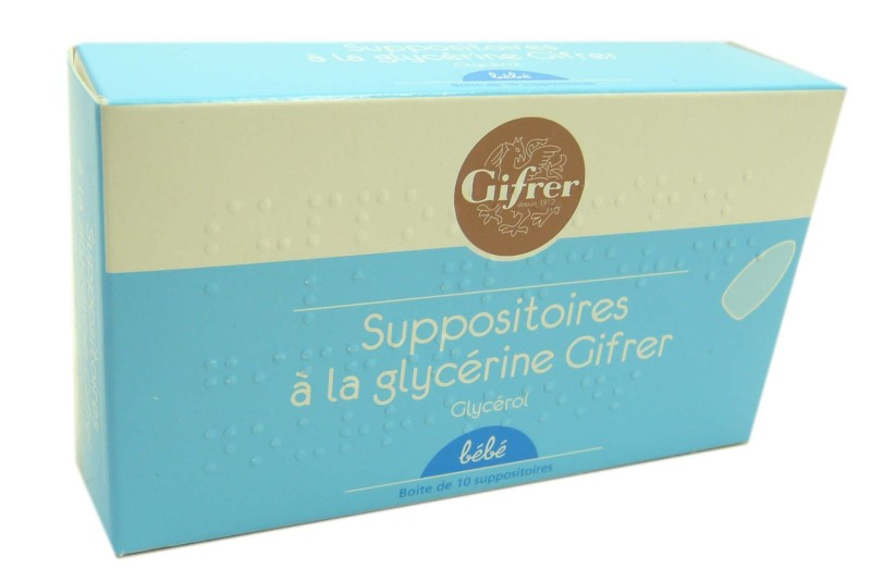 suppositoire glycerine bebe