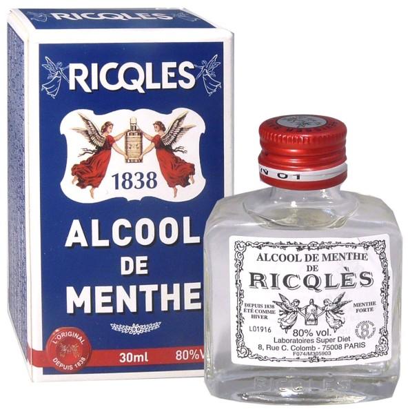 Ricqles alcool de menthe 30 ml for Alcool de menthe fait maison