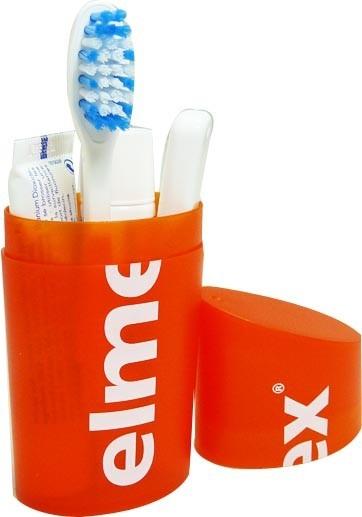 Elmex kit voyage brosse a dents 2 dentifrices - Brosse a dent electrique de voyage ...
