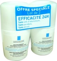 ROCHE POSAY DEODORANT PHYSIOLOGIQUE 24 LOT DE 2