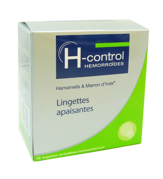 H CONTROL HEMORROIDES 15 LINGETTES APAISANTES