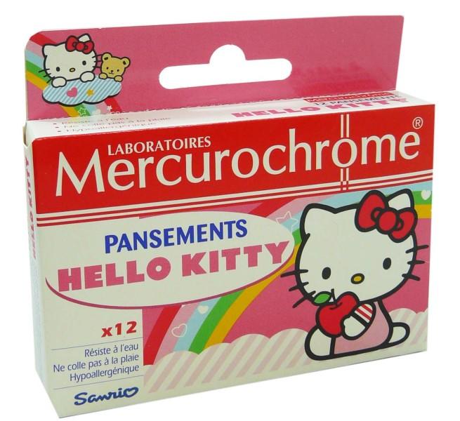 MERCUROCHROME PANSEMENTS HELLO KITTY X12 8fee0e548160