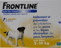 FRONTLINE CHIEN SPOT ON 2-10 KG 6 PIPETTES