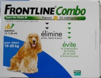 FRONTLINE COMBO CHIEN 10-20KG 6 PIPETTES