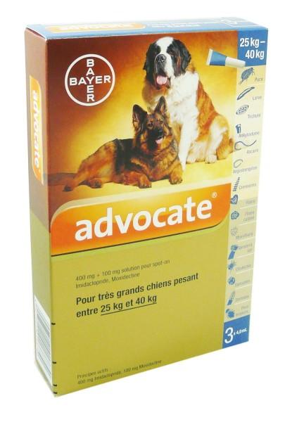 Plus Vente En Ligne Bayer Advocate Chien 25 40kg 3x4ml