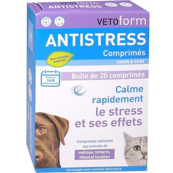 Vetoform Antistress Chien Et Chat 20 Comprimes