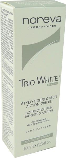 NOREVA TRIO WHITE STYLO CORRECTEUR ACTION CIBLEE 10MLNOREVA